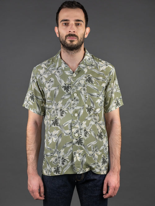 Trophy Clothing Duke Hawaiian Shirt Green