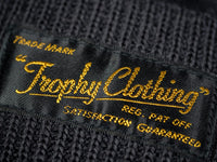 Trophy Clothing Guernsey Knit Cap Charcoal front label