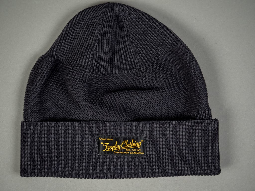 Trophy Clothing Guernsey Knit Cap Charcoal front