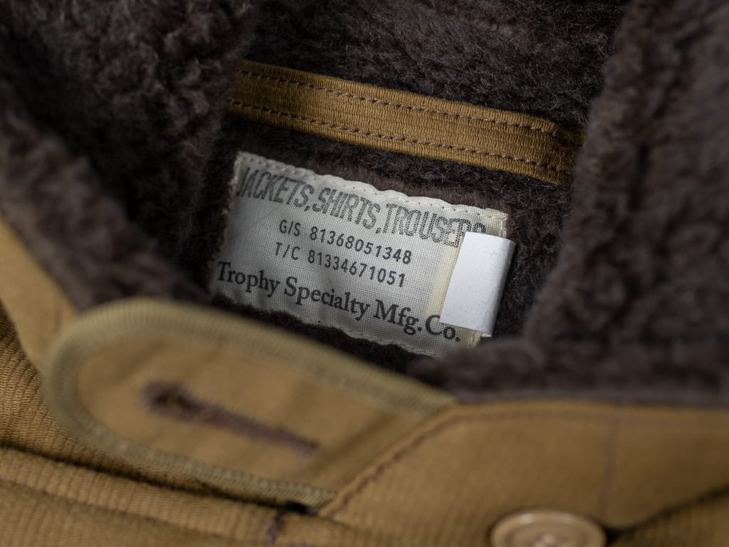 Trophy Clothing N1 Jacket label