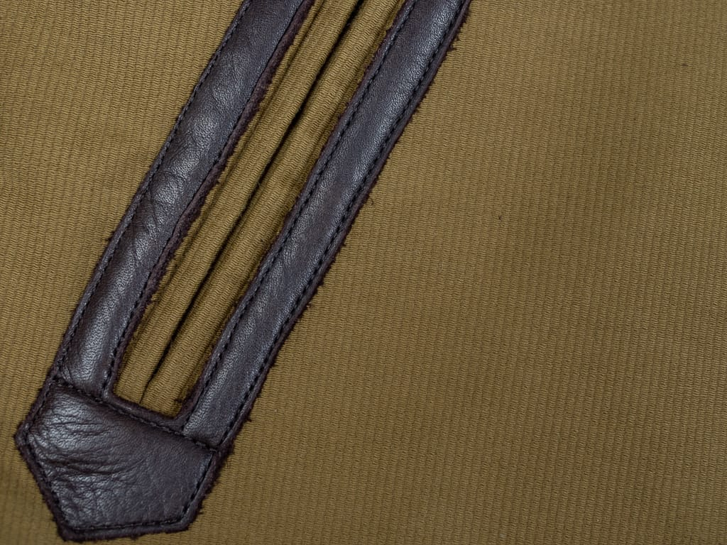 leather pocket reinforcements of Trophy Clothing N1 Jacket
