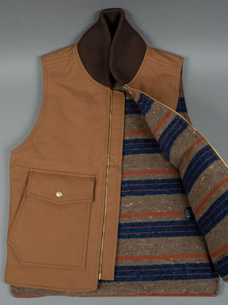 Trophy Clothing Oiled Duck Storm Vest wool interior