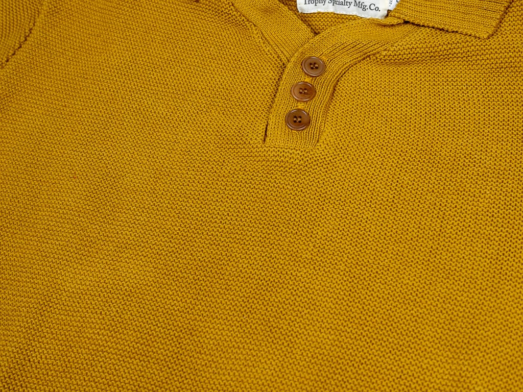 Trophy Clothing Red Cross Summer Polo mustard colour