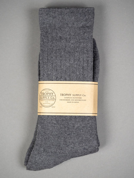 Trophy Clothing Regular Boots Socks Charcoal