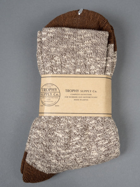 Trophy Clothing Slab Boot Socks Brown Mix