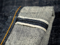 red and yellow selvedge dirt japanese denim by trophy clothing