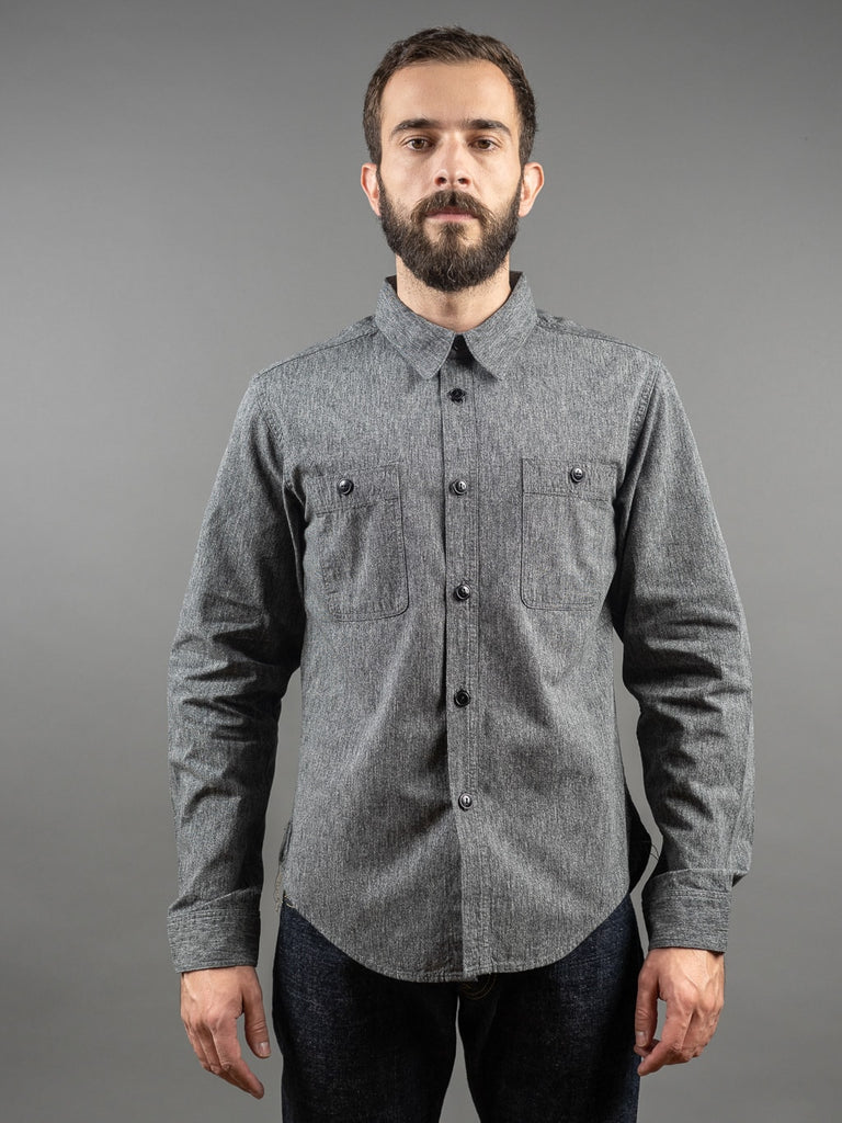 Trophy Clothing Utility Denim work Shirt Covert