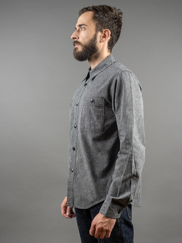 Trophy Clothing Utility Denim work Shirt Covert side