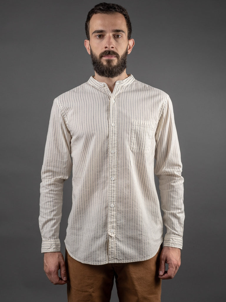 UES Band Collar Shirt front