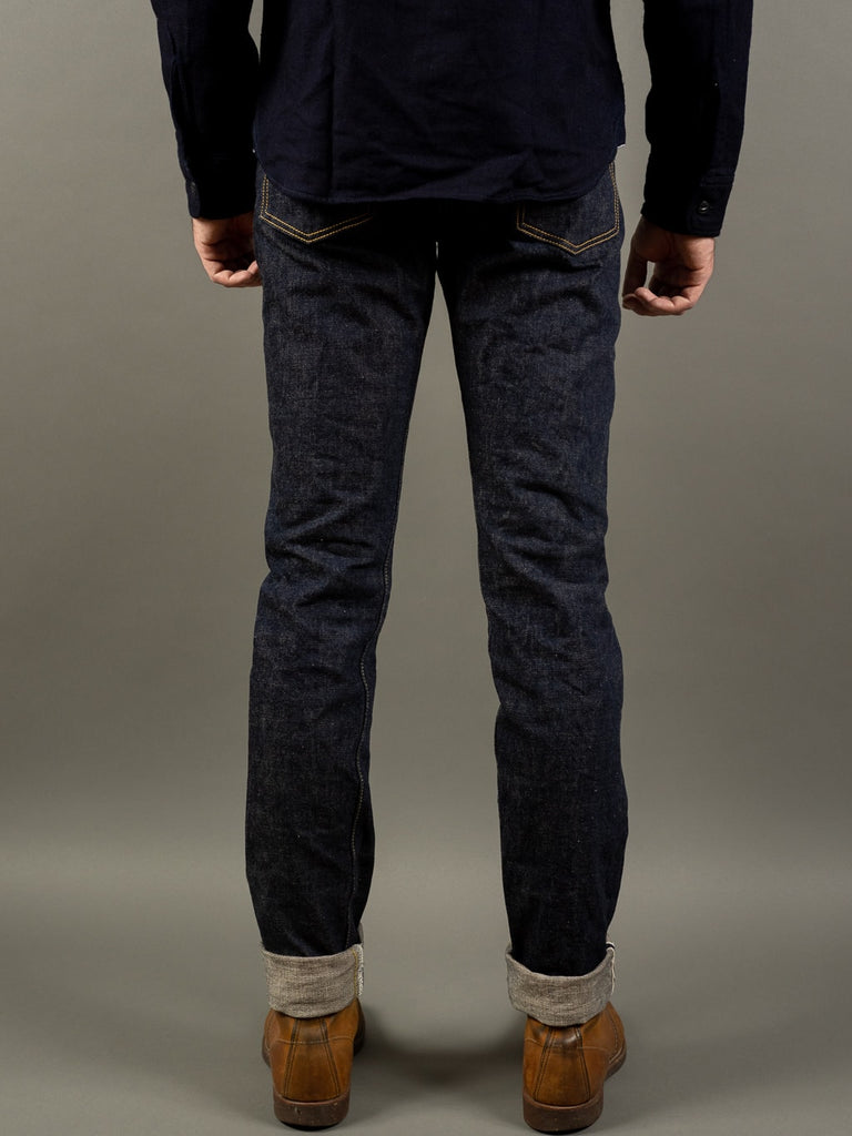 UES 400ST Slim Tapered japanese selvedge Jeans back