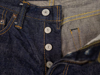buttons of UES 400ST Slim japanese selvedge Jeans