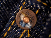 copper rivets of UES 400ST japanese selvedge Jeans