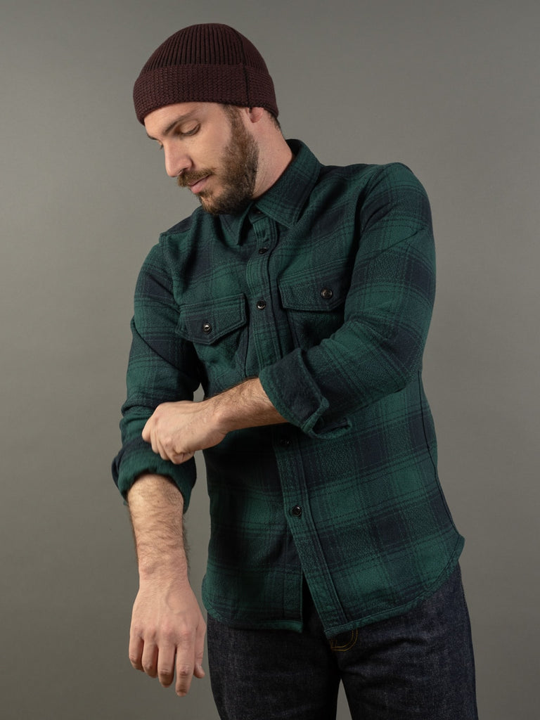 UES Extra Heavy Flannel Shirt Green