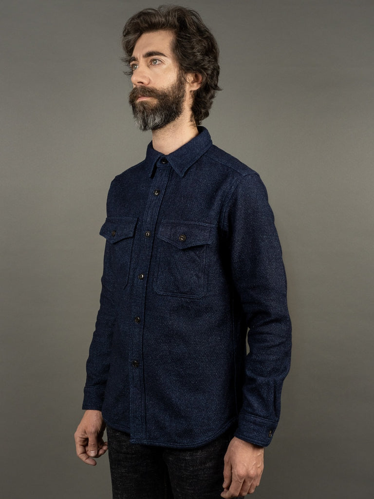 UES Indigo Extra Heavy Flannel Shirt side