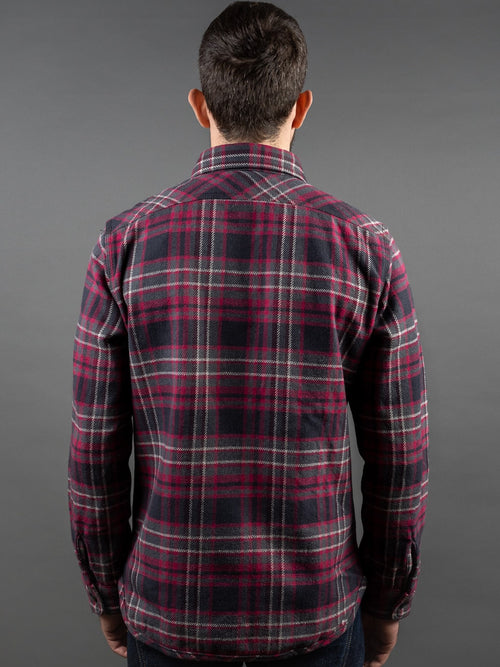 UES Extra Heavy Flannel Shirt Black back