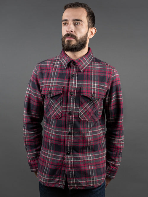 UES Extra Heavy Flannel Shirt Black