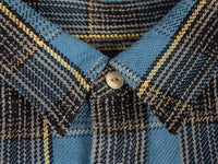 UES Heavy Flannel Shirt Blue collar