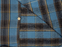UES Heavy Flannel Shirt Blue interior