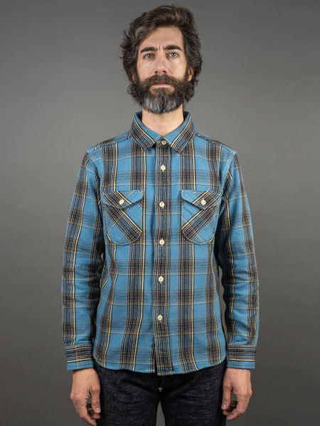 UES Heavy plaid Flannel Shirt Blue