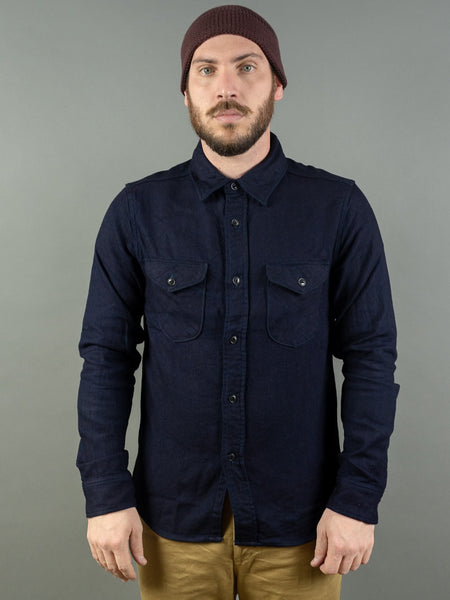UES selvedge Indigo Heavy Flannel Shirt