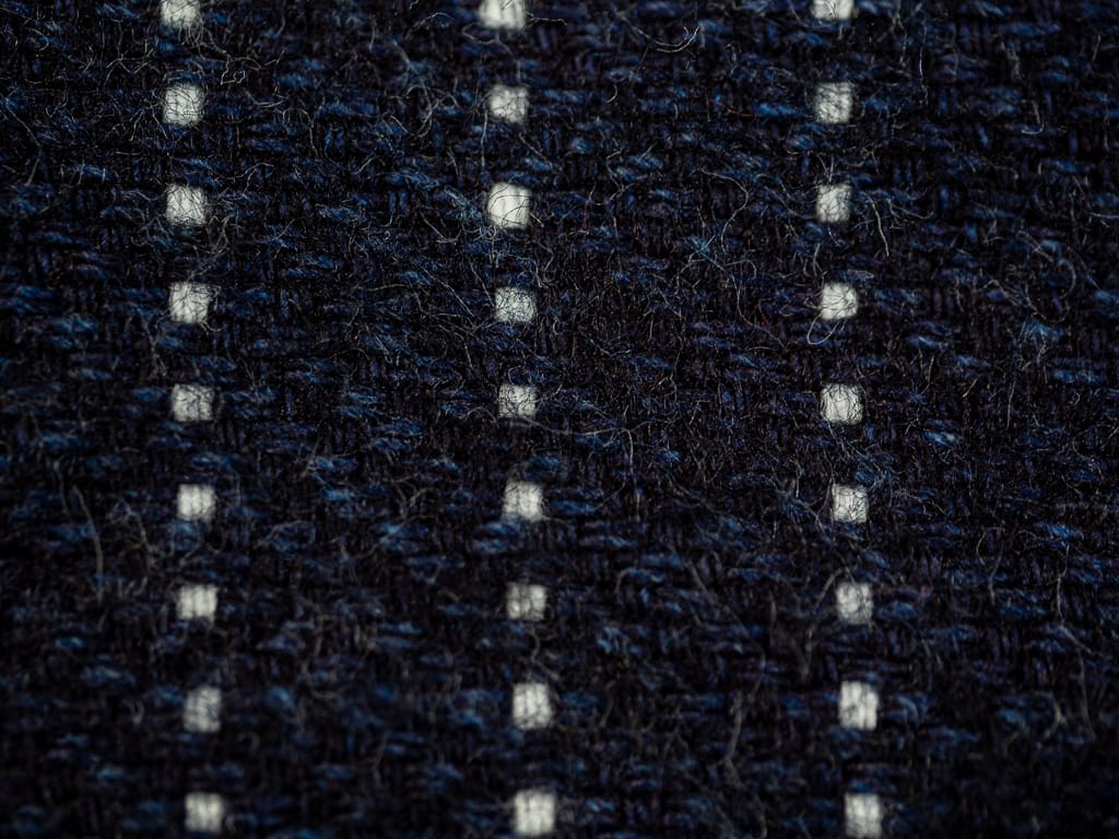 UES Indigo Stripe Heavy Flannel Shirt interior fabric