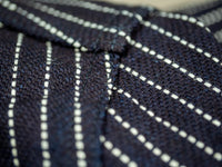 UES Indigo Stripe Heavy Flannel Shirt chain stitching