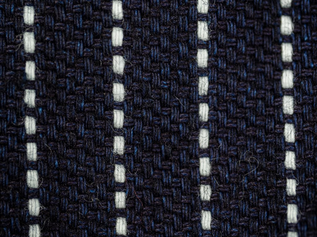 UES Indigo Stripe Heavy Flannel Shirt fabric