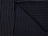 UES Indigo Stripe Heavy Flannel Shirt interior