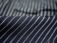 UES Indigo Stripe Heavy Flannel Shirt sanforized fabric