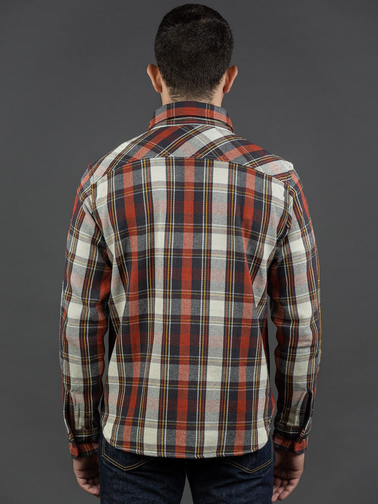 UES Heavy Flannel Shirt Red back