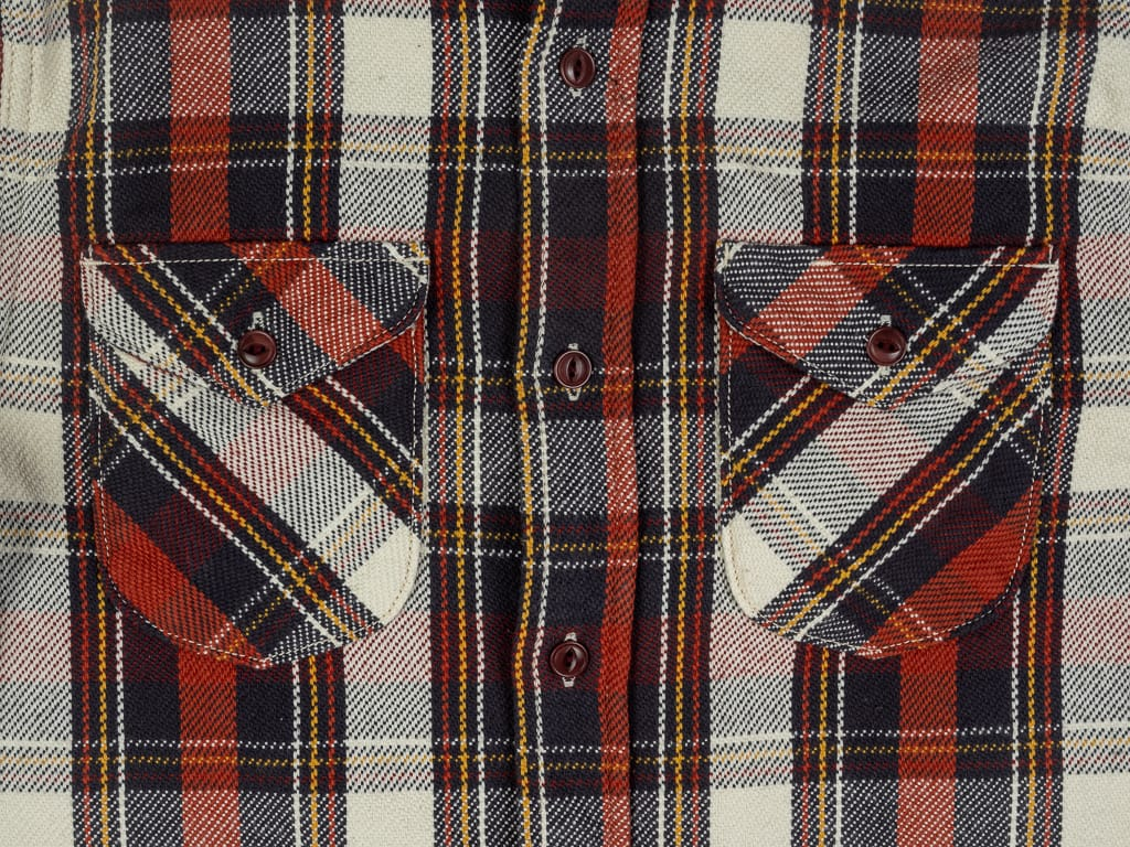 UES Heavy Flannel Shirt Red pockets
