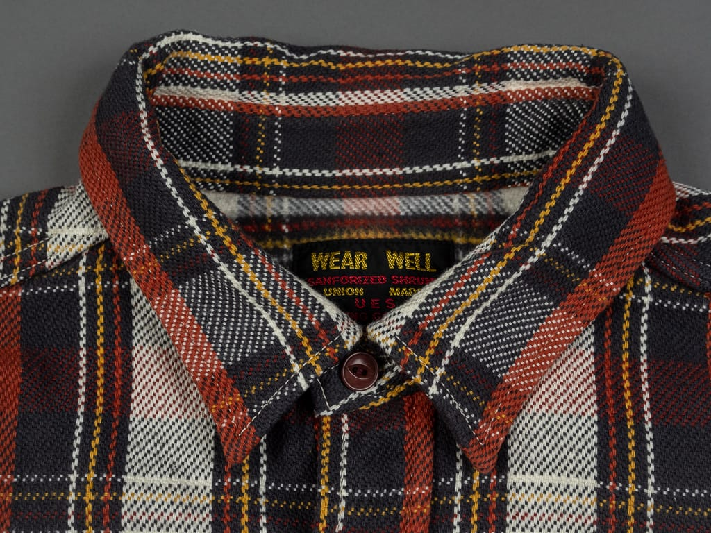 UES Heavy Flannel Shirt Red collar
