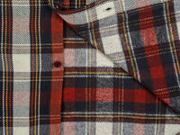 UES Heavy Flannel Shirt Red interior
