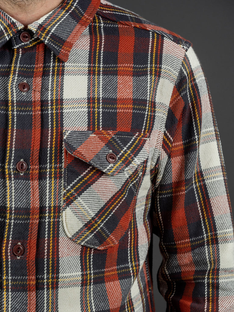 UES Heavy Flannel Shirt Red pocket