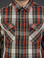 UES Heavy Flannel Shirt Red chest pockets