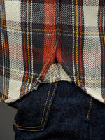 UES Heavy Flannel Shirt Red selvedge gusset