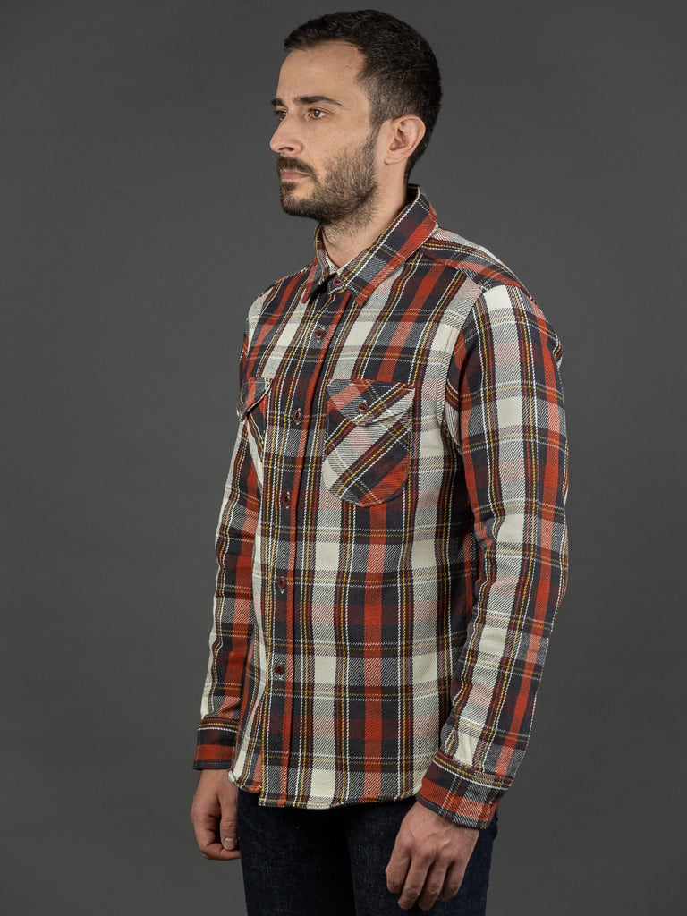 UES Heavy Flannel Shirt Red side