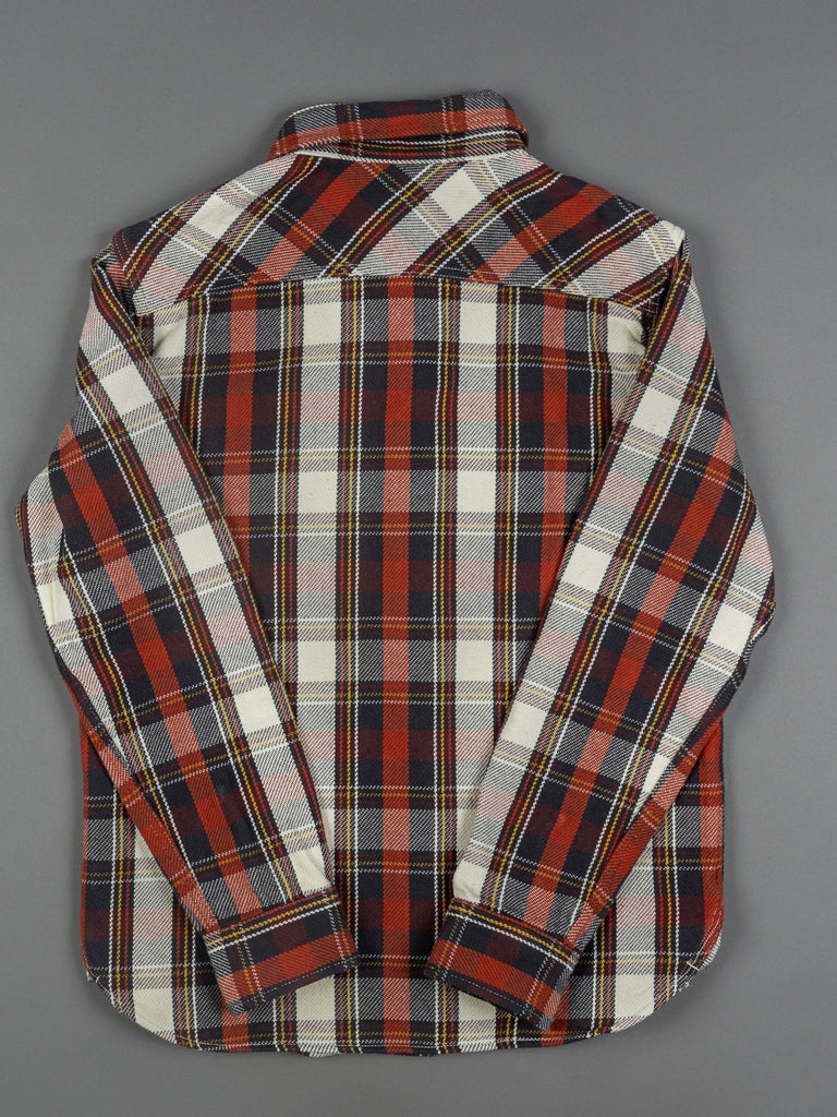 UES Heavy Flannel Shirt Red slim back