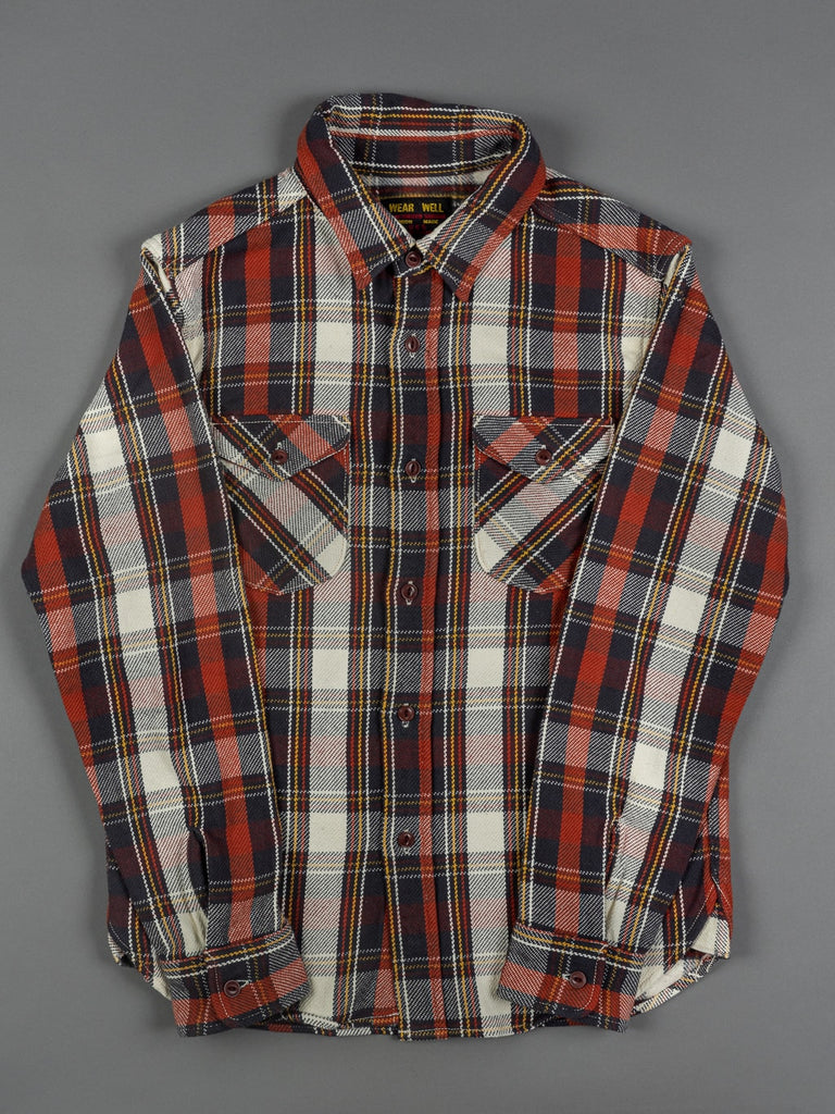 UES Heavy Flannel Shirt Red slim fit