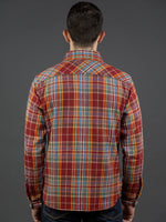 UES Heavy Flannel Shirt Red/Orange back