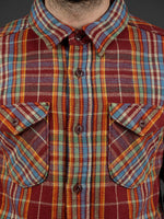 UES Heavy Flannel Shirt Red/Orange chest pockets