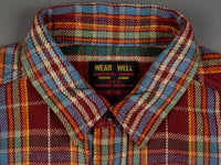 UES Heavy Flannel Shirt Red/Orange collar