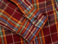 UES Heavy Flannel Shirt Red/Orange cuff
