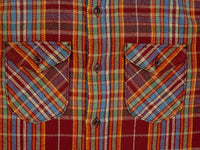 UES Heavy Flannel Shirt Red/Orange pockets