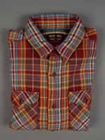 UES Heavy Flannel Shirt Red/Orange cotton