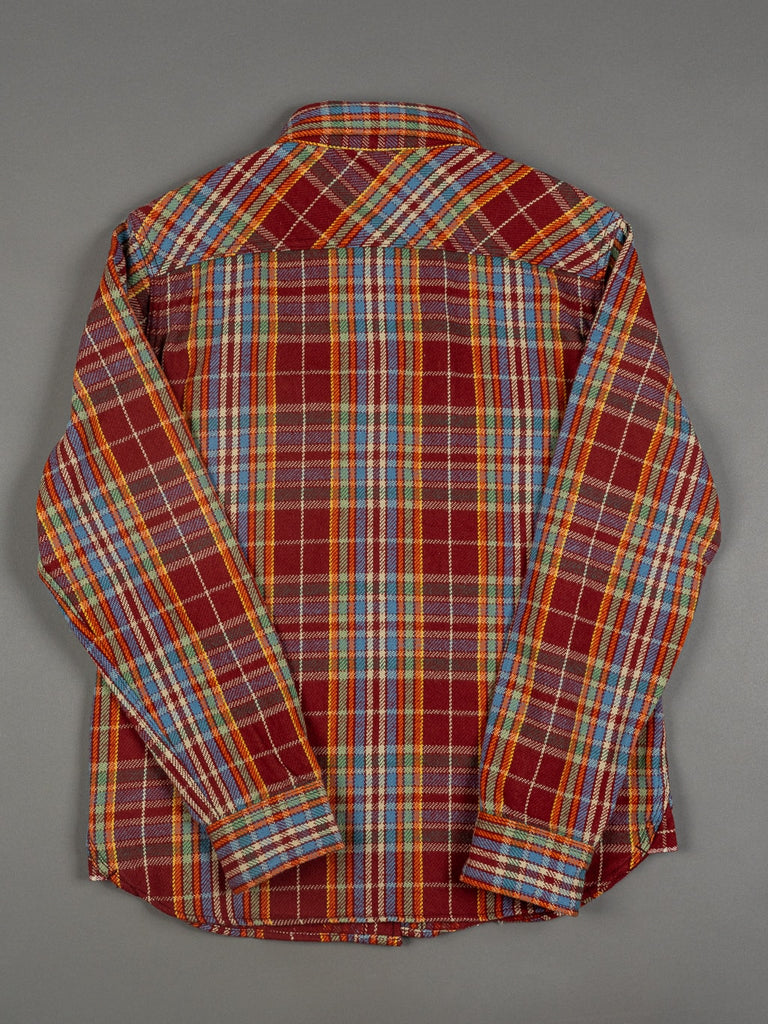 UES Heavy Flannel Shirt Red/Orange slim back