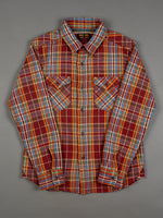 UES Heavy Flannel Shirt Red/Orange slim fit