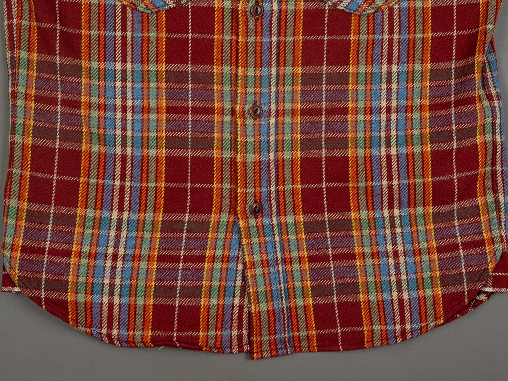 UES Heavy Flannel Shirt Red/Orange waist