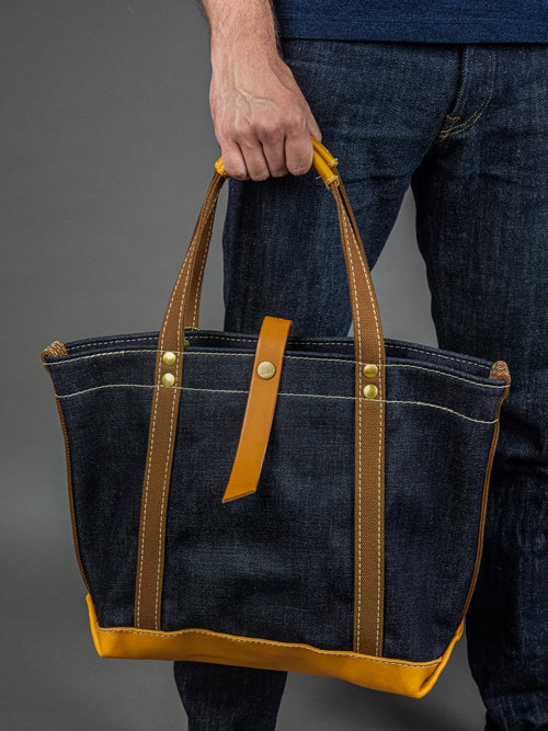 UES 23oz Extra Heavy Selvedge Denim Tote Bag Medium front