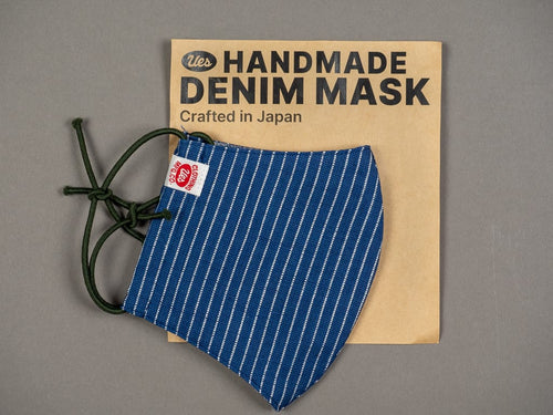 UES handmade indigo denim face mask